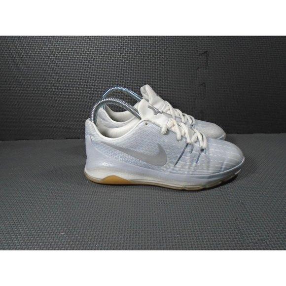 Youth Sz 3 Nike KD 8 Wolf Grey Sneakers